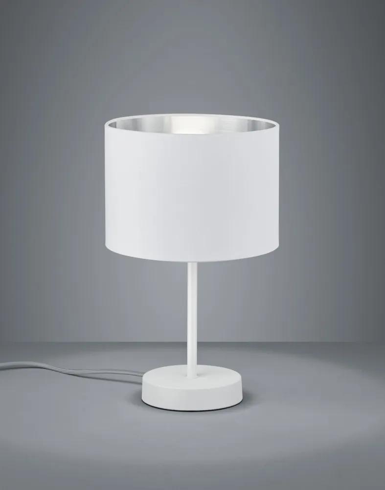 Trio 508200189 Lampa de masa de noapte HOSTEL alb mat metal excl. 1 x E27, max. 40W IP20