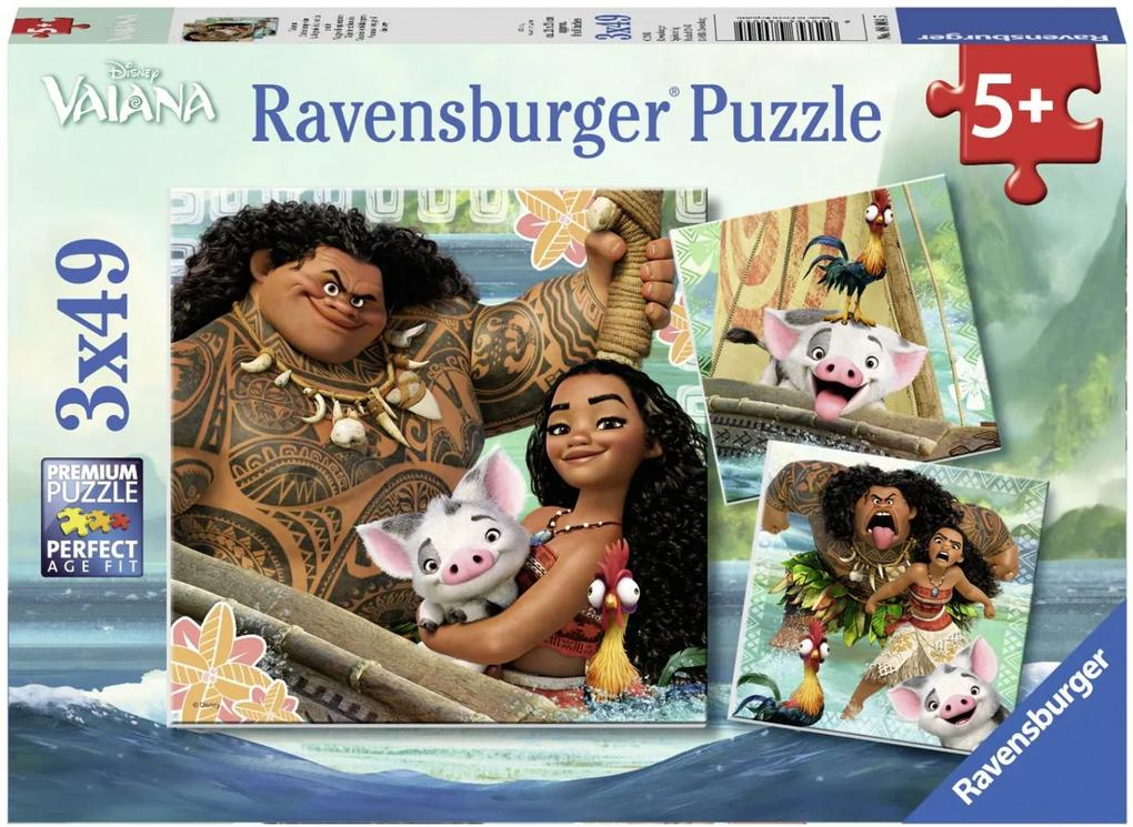 Puzzle Copii 5Ani+ Vaiana, 3X49 Piese