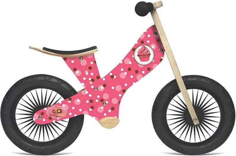 Bicicleta roz de echilibru fara pedale Retro Cupcake - Kinderfeets