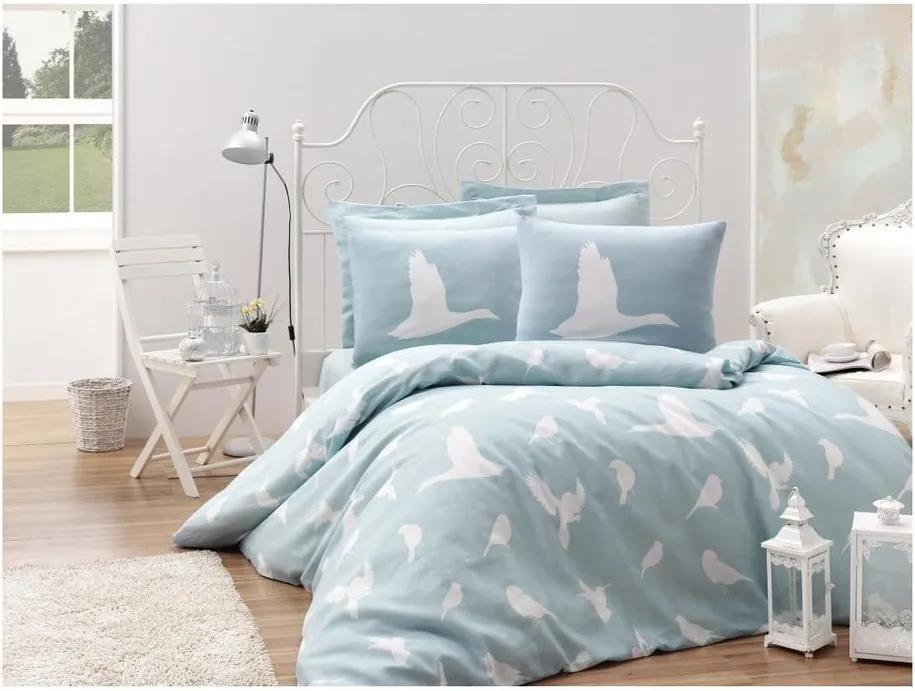 Lenjerie de pat cu cearșaf Reterro Russa, 200 x 220 cm
