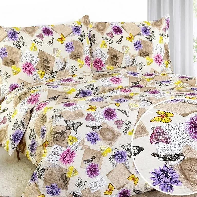 Goldea lenjerie de pat din creponată - model 813 140 x 200 și 70 x 90 cm