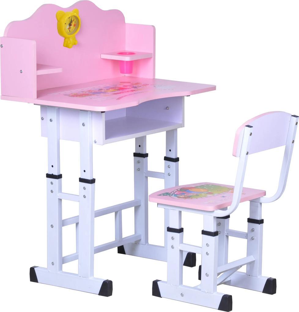 Set birou copii roz