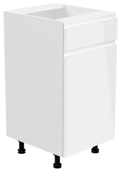 Dulap inferior alb/alb extra lucios de dreapta AURORA D40S2