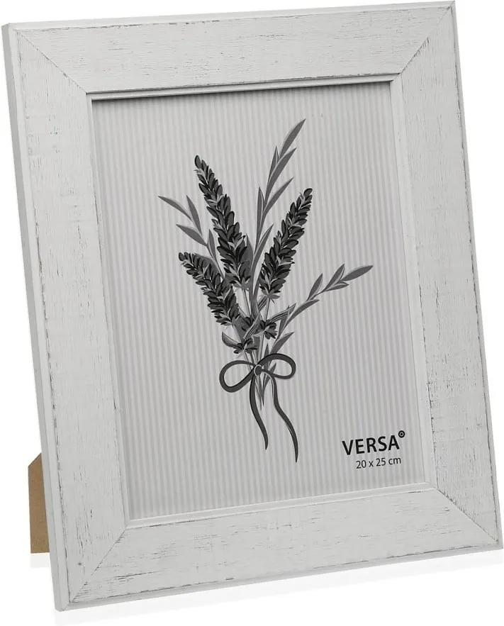 Ramă foto din lemn pentru fotografie Versa Madera Blanco, 20 x 25 cm