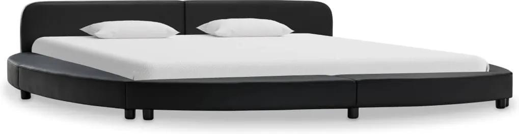 Cadru de pat, negru, 180 x 200 cm, piele ecologica