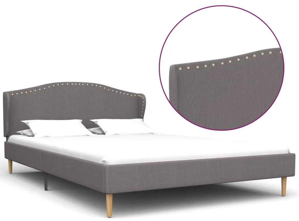280648 vidaXL Cadru de pat, gri deschis, 120 x 200 cm, material textil