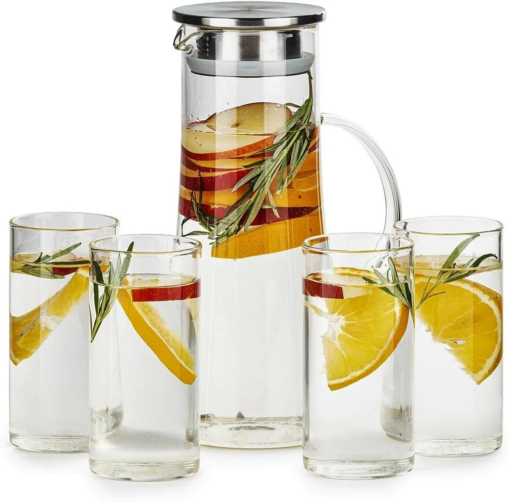 Set carafă și 4 pahare 4Home Summer Hot&Cool