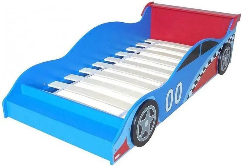 Style - Pat cu cadru din lemn Racing Car