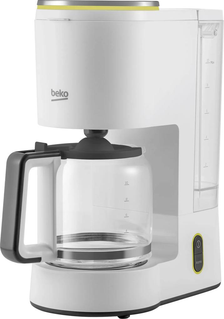 Cafetiera Beko Foodster FCM1321W, 1000W, capacitate 10 cesti, functie ajustare aroma, oprire automata, Alb