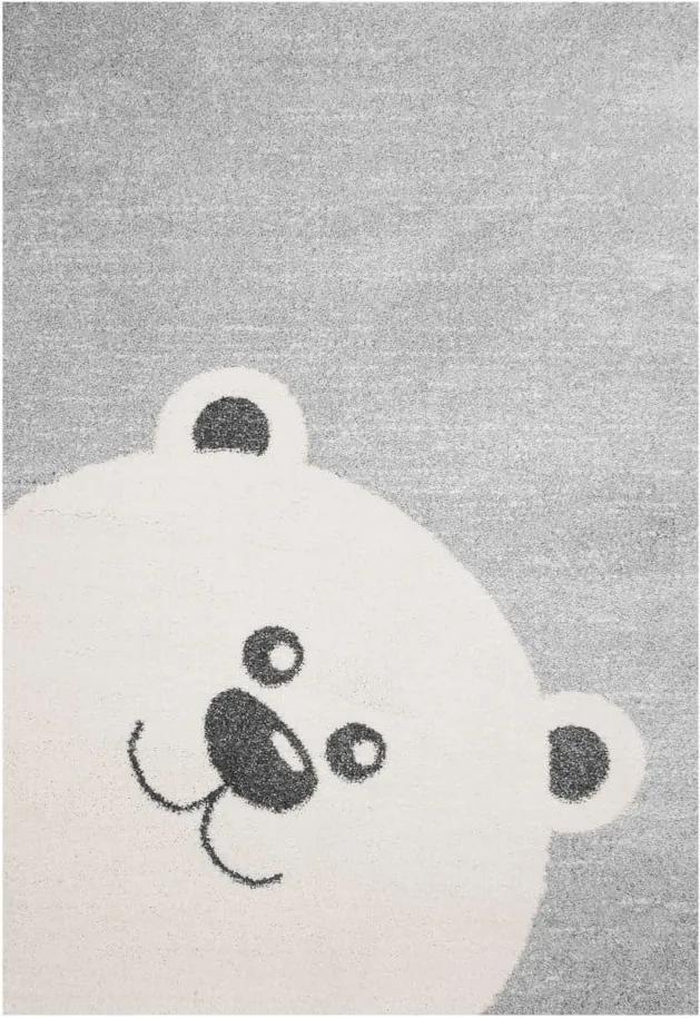 Covor pentru copii Zala Living Bear , 120 x 170 cm, gri