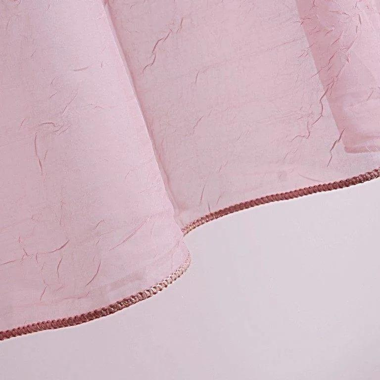 Goldea voal roz model 1018 - metraj 155 cm