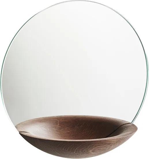 """Oglindă de perete cu vas de depozitare """"Pocket"""", mică, 3 variante - Woud Variantă: stejar închis la culoare"""