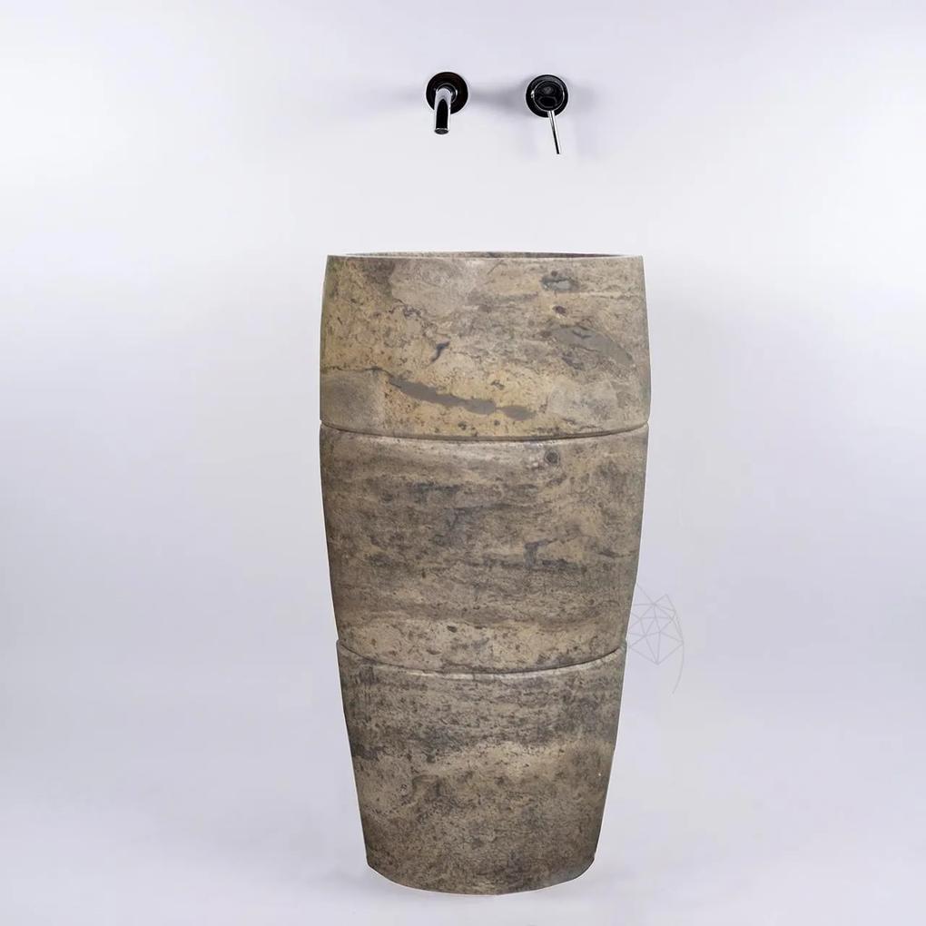 Chiuveta Tao travertin silver SP-26 82x42 cm