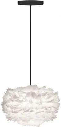 Pendul modern cu pene de gasca EOS alb, 35cm