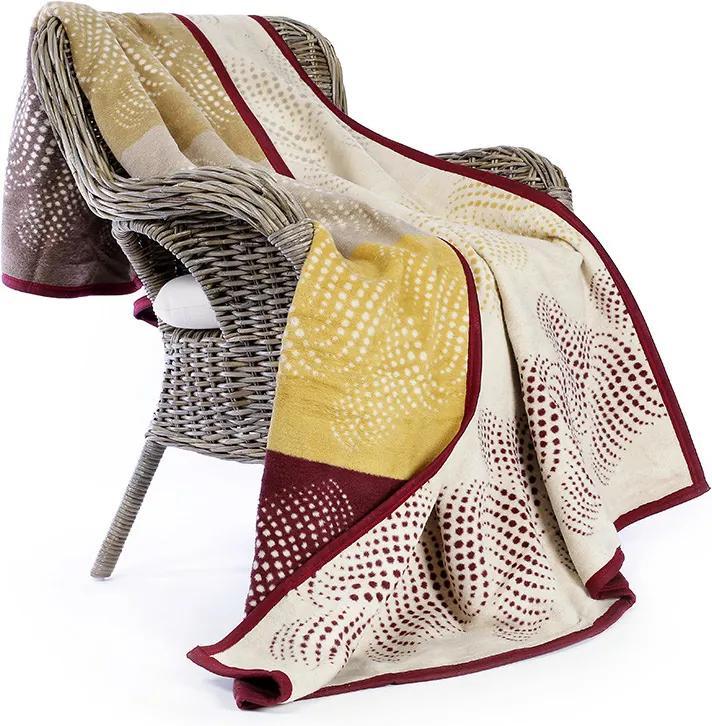 Goldea pătură din bumbac de lux - model 002 150 x 200 cm