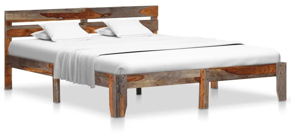288412 vidaXL Cadru de pat, 160 x 200 cm, lemn masiv de sheesham