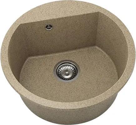 Chiuveta bucatarie rotunda FAT Avangard 223 din granixit, Ø 51 cm, Cinnamon