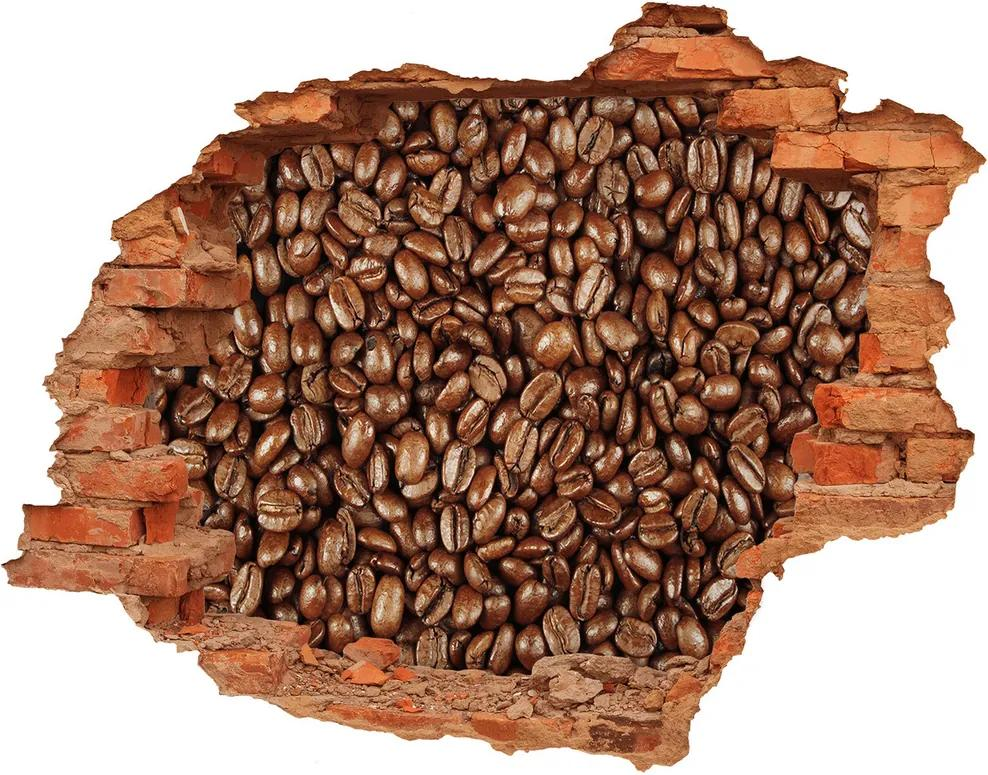 Autocolant un zid spart cu priveliște Boabe de cafea