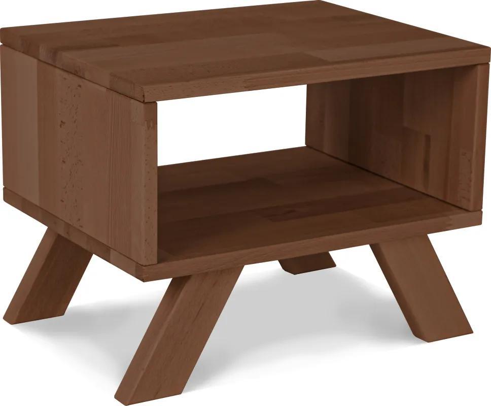 Noptiera din lemn de fag Allegro Walnut 45x35x34 cm