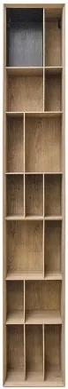 Biblioteca maro din MDF 40x36x245 cm Bibli Versmissen