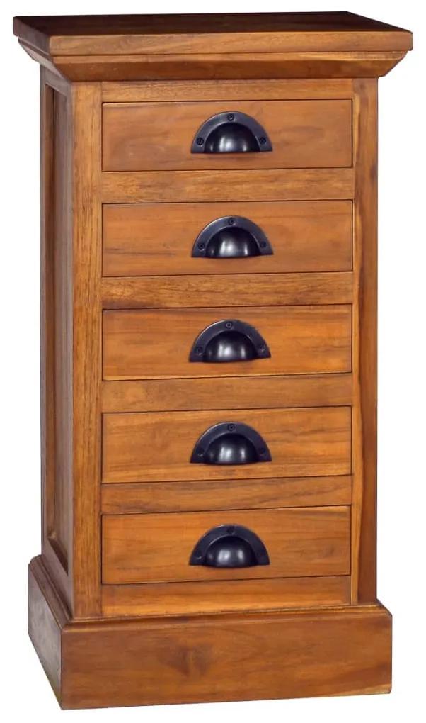 289065 vidaXL Dulap cu 5 sertare, 35 x 30 x 60 cm, lemn masiv de tec