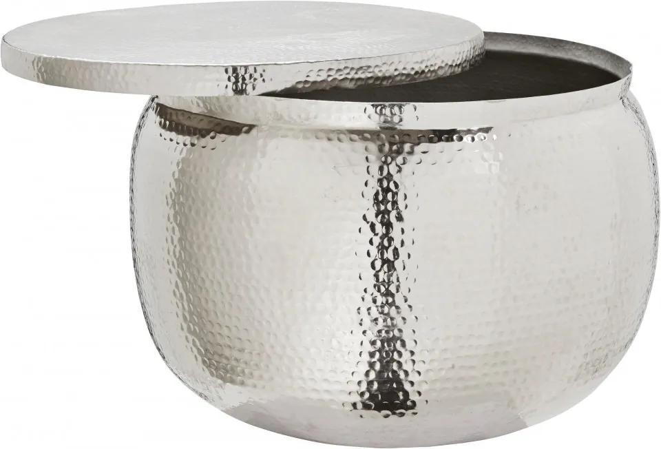 Masuta de cafea cu spatiu de depozitare alu-shine - diametru 74cm