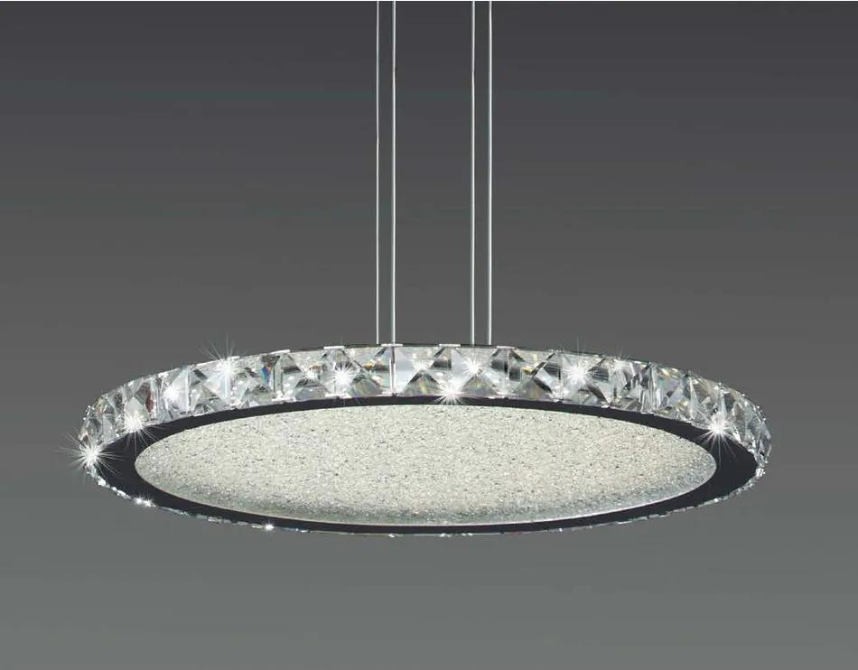 Mantra 4578 Pendule LED CRYSTAL crom metal 1xLED max. 44W IP20