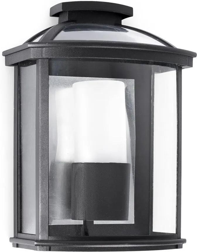 FARO 71607 - Aplică perete exterior CERES 1xE27/20W/100-240V IP44 negru