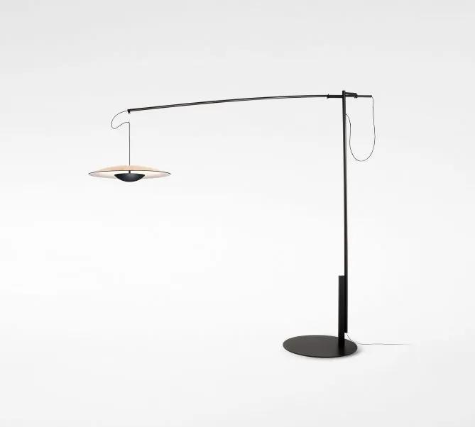 Ginger XXL 60 - Lampă de podea crem din lemn