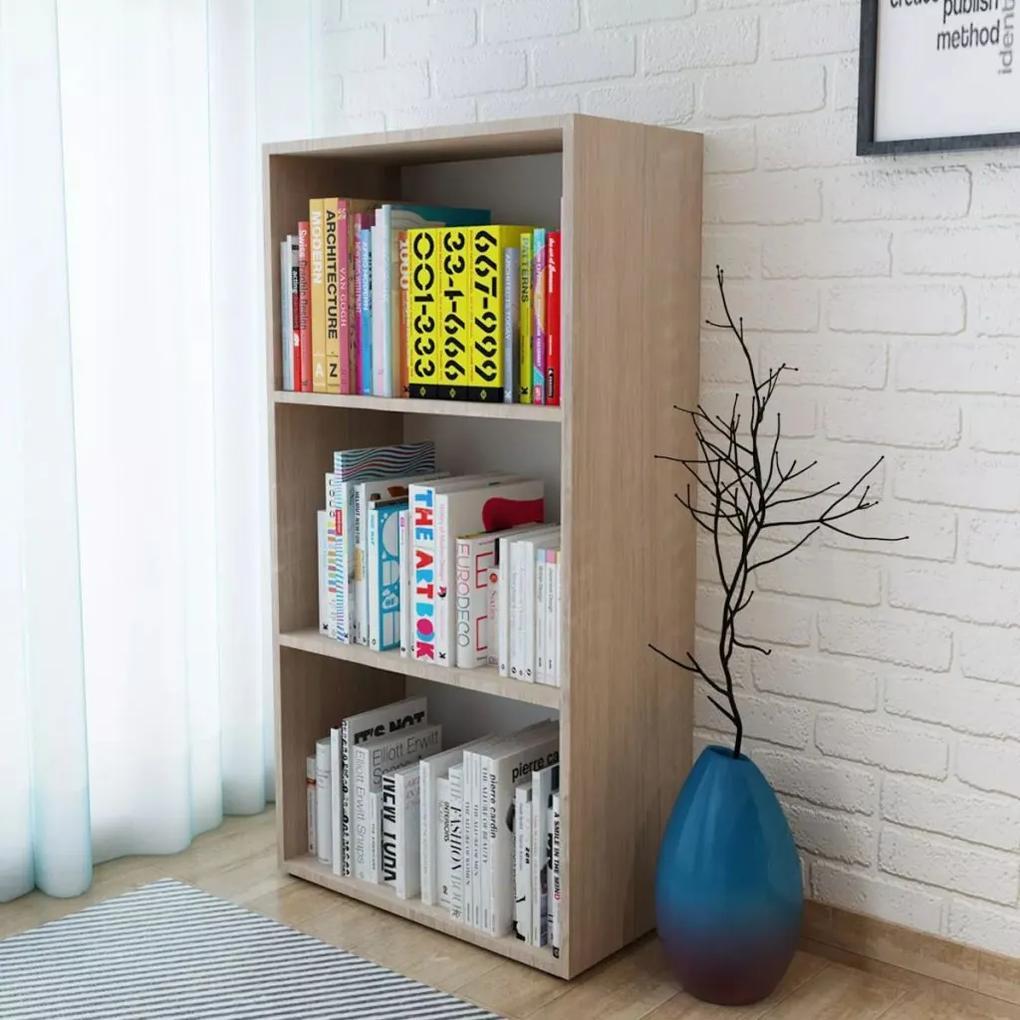 244879 vidaXL Raft de cărți, stejar, 60 x 31 x 116,5 cm, PAL