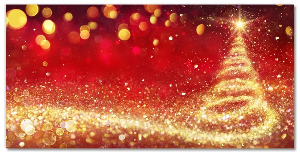 Tablou pe sticla acrilica Brad abstract. Crăciun. Iarna