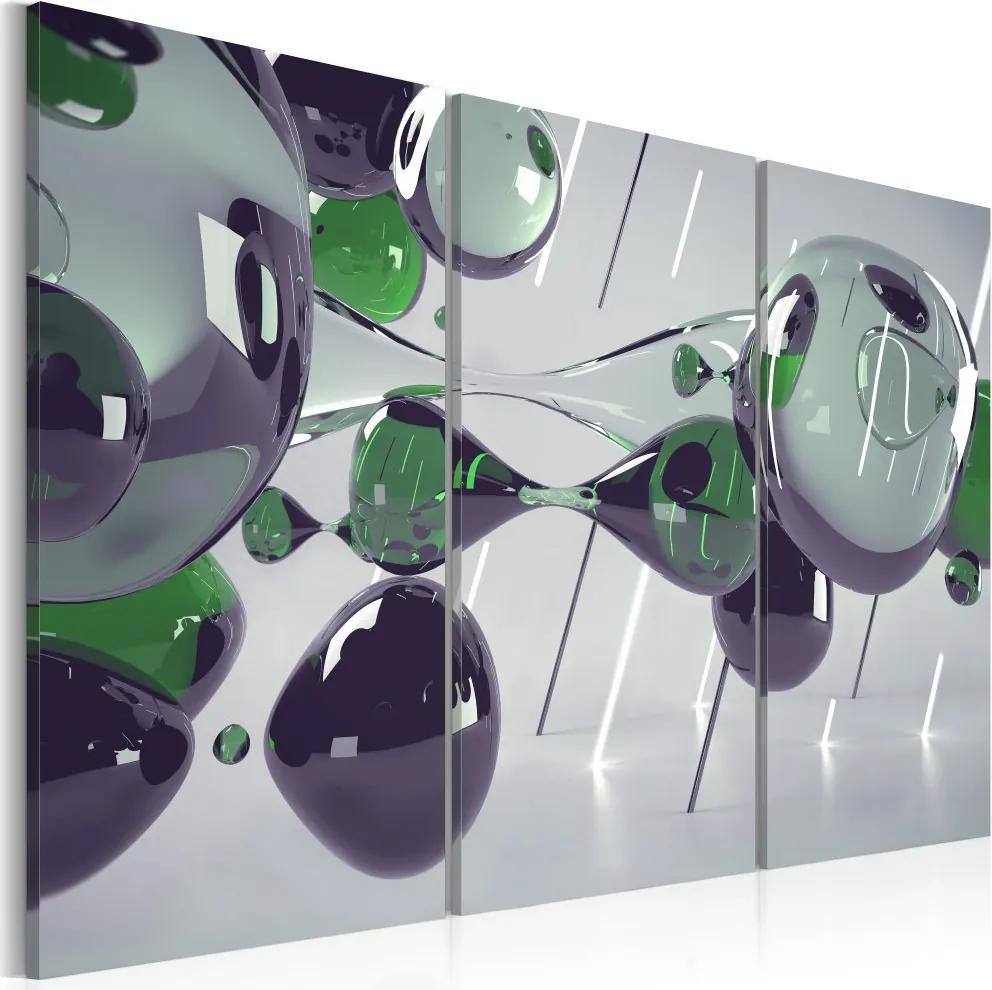 Tablou - Glass mystification - triptych 60x40 cm