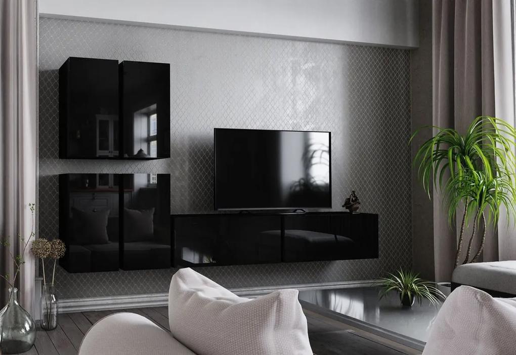Expedo Mobilă sufragerie ELPASO 8, negru/negru luciu