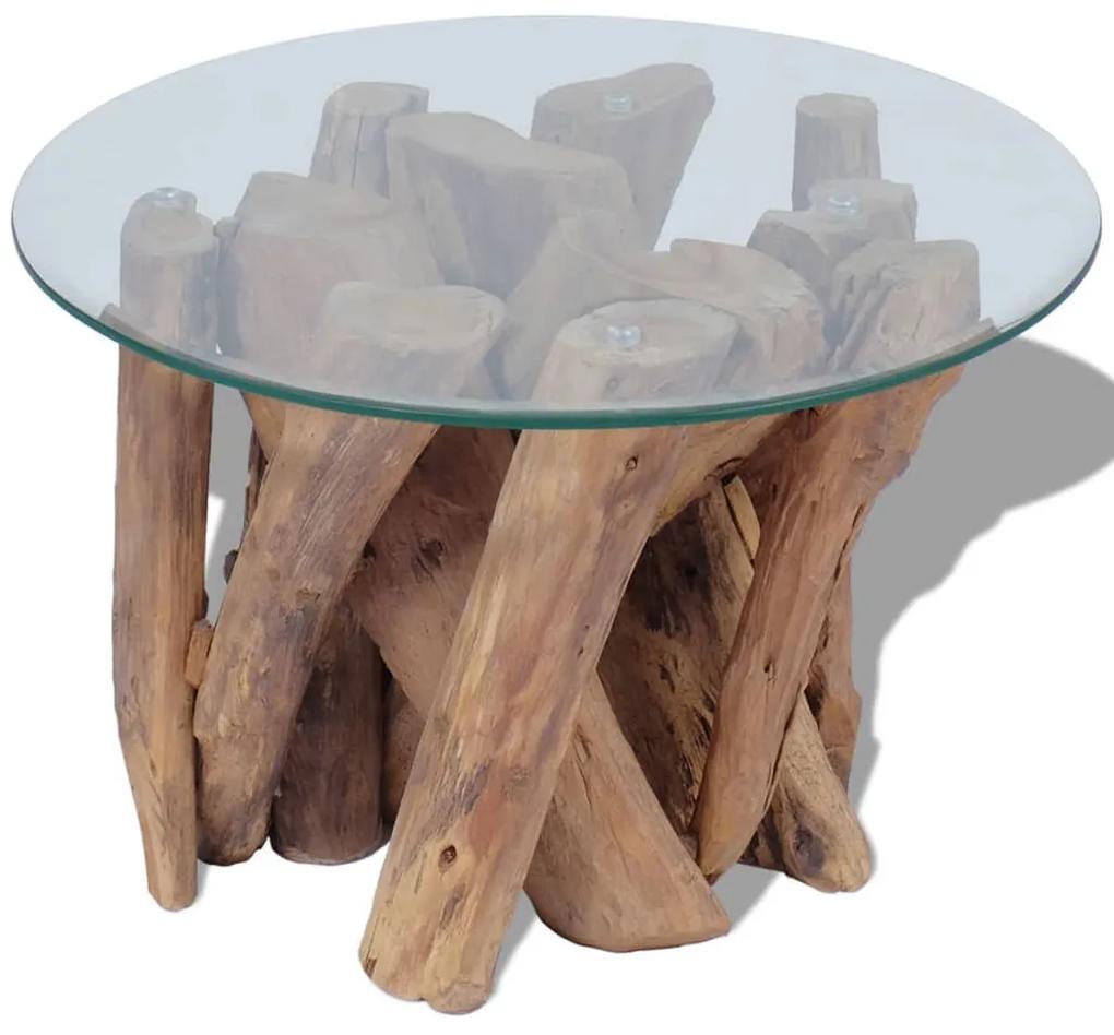 243473 vidaXL Măsuță de cafea din lemn de tec solid, 60 cm