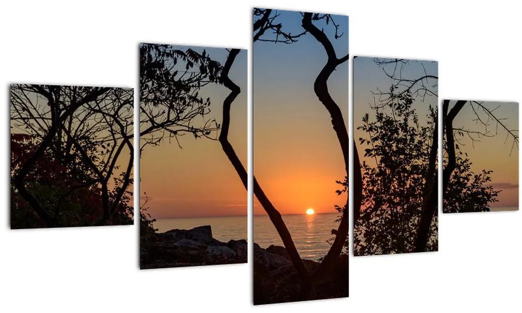 Tablou cu apus de soare (125x70 cm), în 40 de alte dimensiuni noi