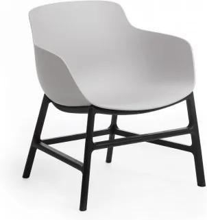 Scaun din plastic Ines Gri / Negru, l63xA62xH70 cm