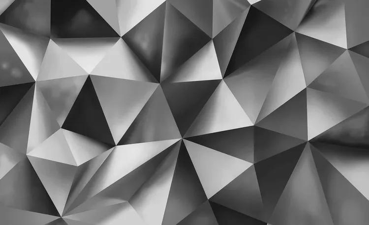 Abstract Art Grey Fototapet, (104 x 70.5 cm)