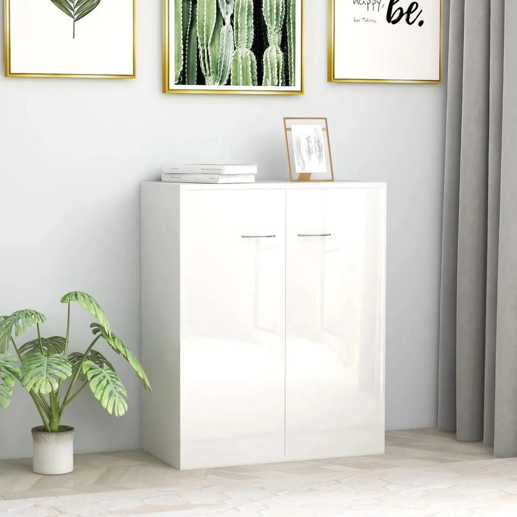 800735 vidaXL Servantă, alb lucios, 60 x 30 x 75 cm, PAL
