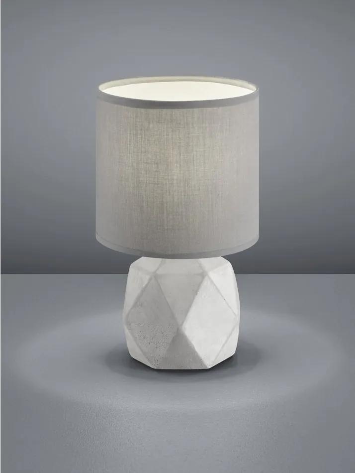 Trio PIKE R50831087 Lampa de masa de noapte Beton titan excl. 1 x E14, max. 40W D:16cm, H:30cm