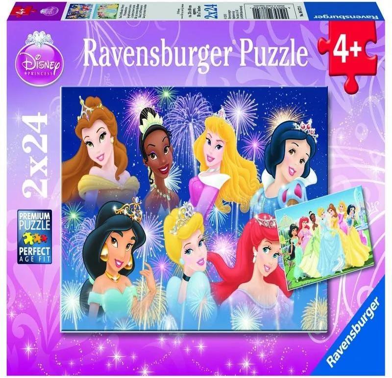 PUZZLE Copii 4Ani+ PRINTESELE DISNEY, 2x24 PIESE
