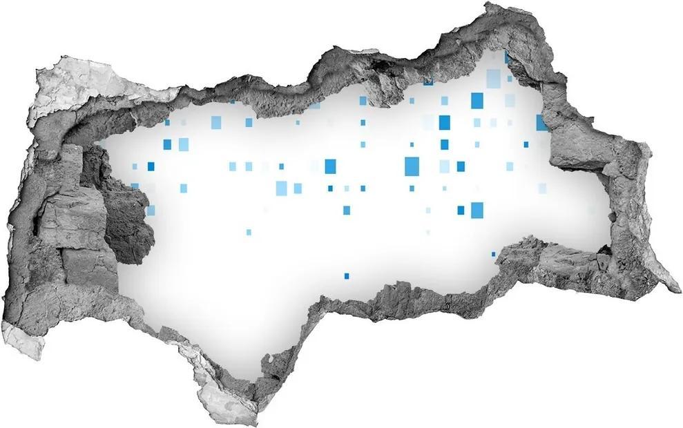 Autocolant autoadeziv gaură Pătrate albastre