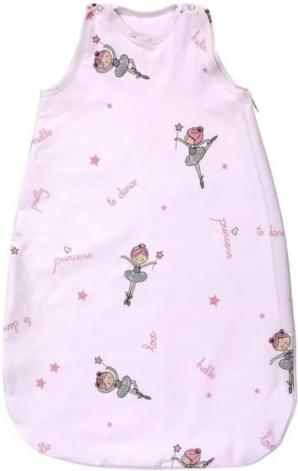 Lorelli - Sac de dormit de iarna, 100 cm, bumbac ranforce, Ballet Pink