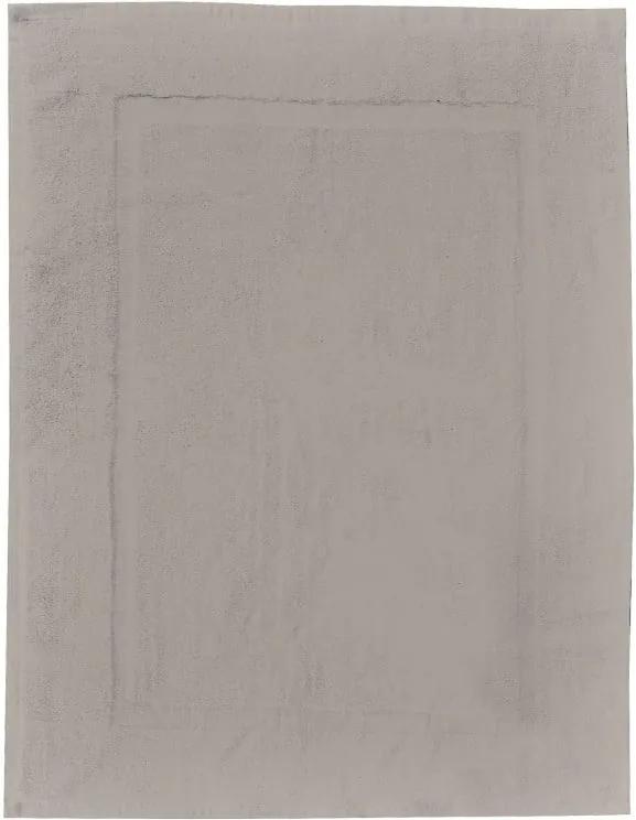 Covor baie din bumbac Wenko, 50 x 70 cm, gri - bej