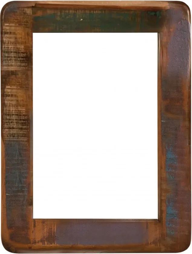 Oglinda dreptunghiulara cu rama din lemn lacuit FRIDGE, 60 x 3 x 80 cm