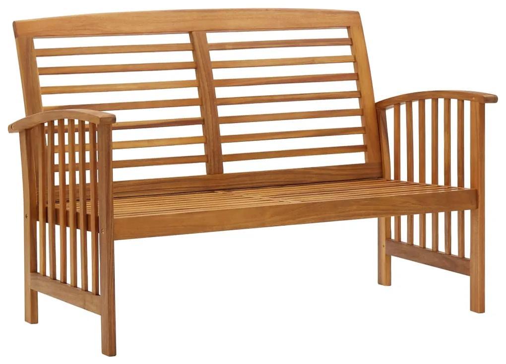 310259 vidaXL Bancă de grădină, 119 cm, lemn masiv de acacia