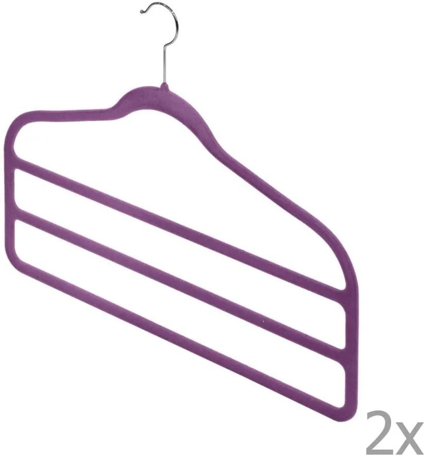 Set 2 umerașe pentru pantaloni Domopak Living, violet
