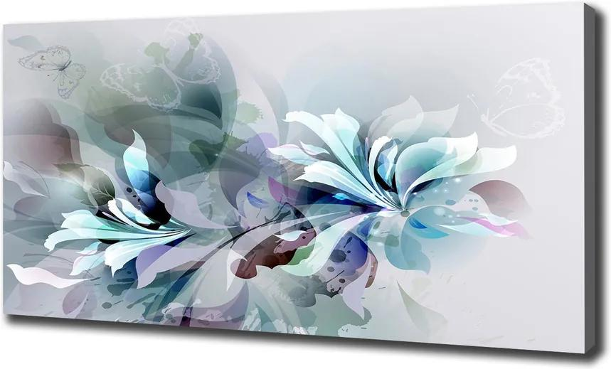 Tablouri tipărite pe pânză Flori abstracte