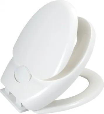 Capac toaleta cu reductie copii, din termoplastic, Family Alb, l35,5xA38 cm