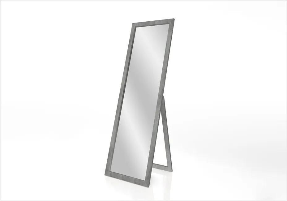 Oglindă cu suport și ramă Styler Sicilia, gri, 46 x 146 cm