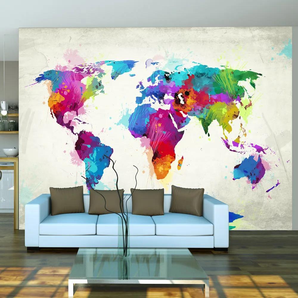 Bimago Fototapet - The map of happiness 200x154 cm